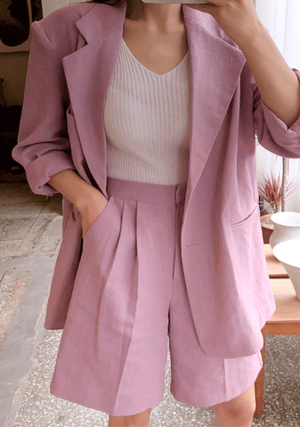 Cotton Candy Linen Oversize Jacket