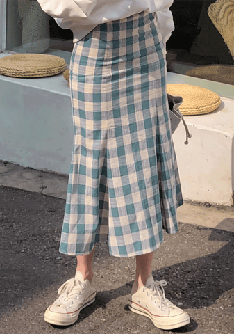 Lovely Checked Mermaid Skirt