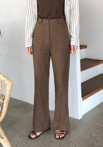 Cooling Effect Linen Pants