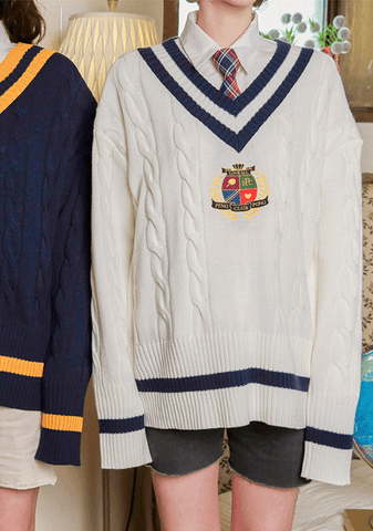 Pingpong club. Crest Cricket Knit Sweater