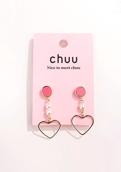 Tri Color Love Earrings