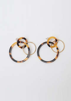 Leopard Three Hoops Earring