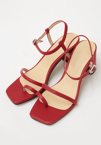 Slim Toe Strap Sandals (7cm)