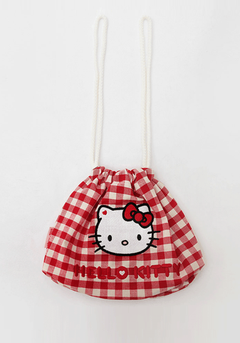 Hello Kitty X Chuu Pick-Nick Trip Check Bag