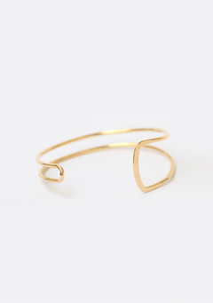 Square Simple Two Line Bangle