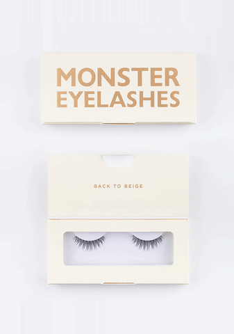 BEIGE MONSTER EYELASHES