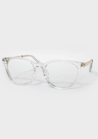Tomboy Transparent Frame Glasses