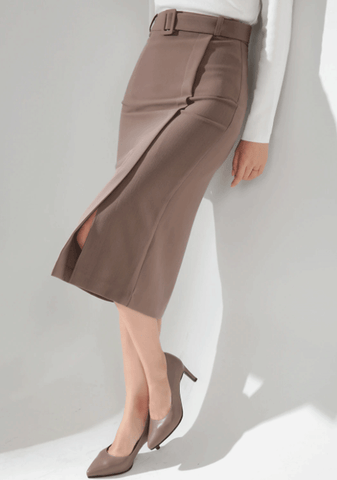 Liana Belt Slit Skirt