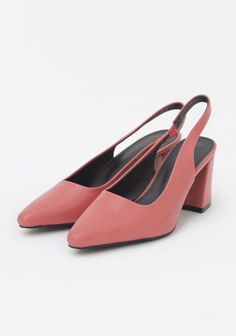 Love Square Heel Slingback Shoes