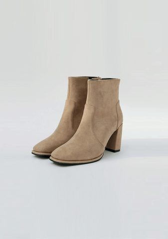 Suede Ankle Boots Heel 8cm
