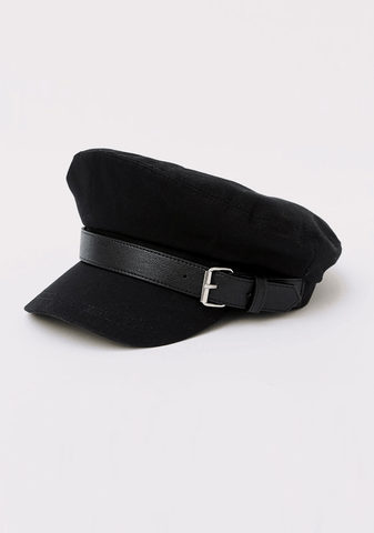Mono Tone Belt Pointed Beret