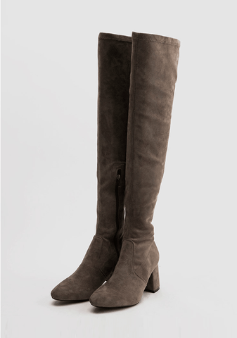 Debra Suede Middle Heeled Boot