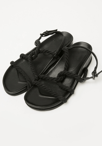 Crossing Rope Straps Sandals 4Cm