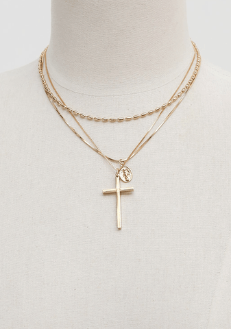 Chain Gold Cross Necklace
