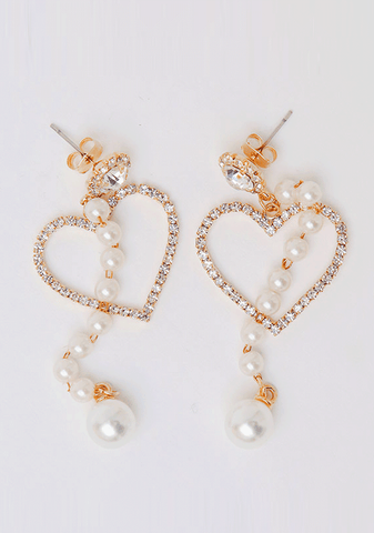 Cubic Heart Beam Earring