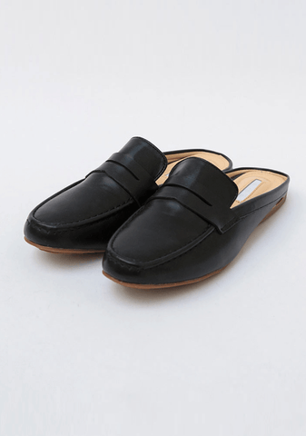 Faux Leather Mule Loafer Shoes