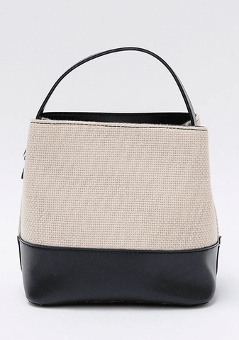 Bicolor Tote Square Bag