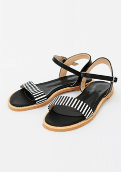 Black & White Simple Sandal