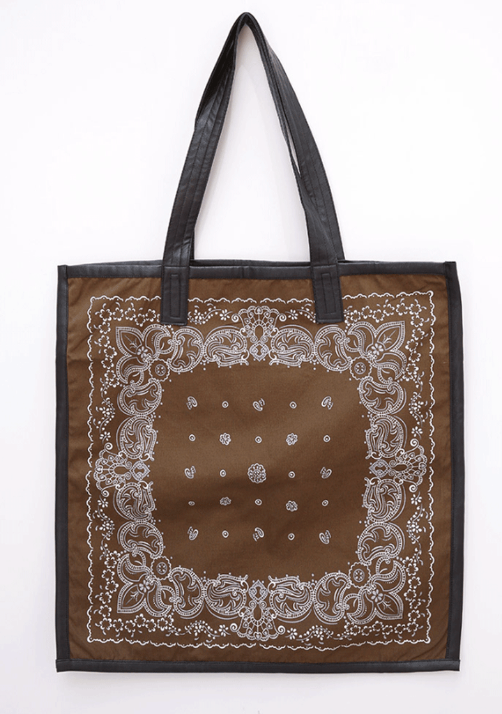 Ethic Print Shoulder Square Bag