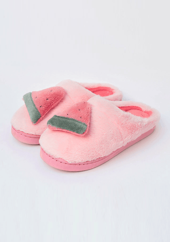 Furry Lovely Fruits Slippers
