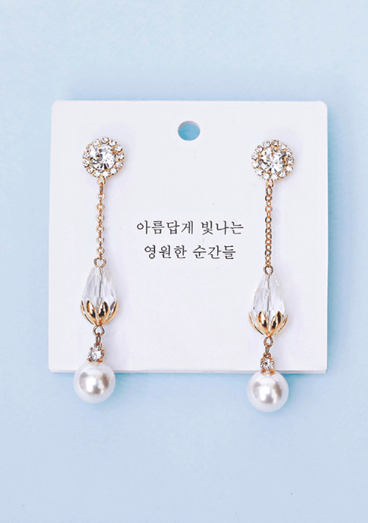 WH. Crystal Clear Earrings