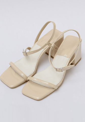 Square Buckle Strap Sandals 6Cm