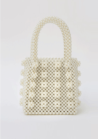 Pearl Detailed Square Bag