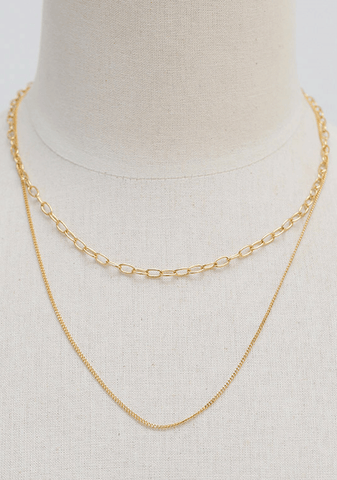 Shining Gold 2-In-1 Necklace