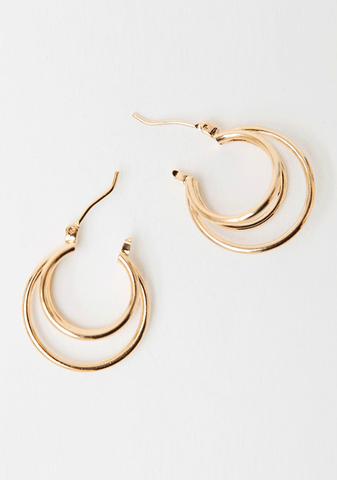 Triple Rings Around Earring