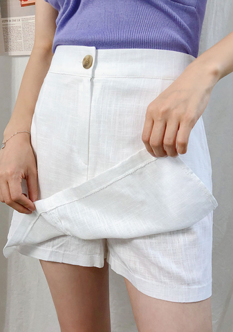 Down For The Summer Linen Skorts