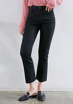 Whistle Basic Semi-Bootcut Pants