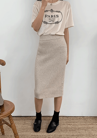 Grace Ribbed Long Skirt