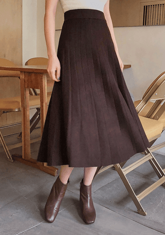 Daily Pleated Long Skirt