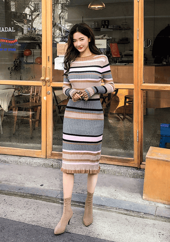 Bodycon Ribbed Knit Dress