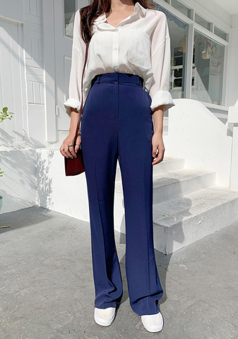 Flowy Long Legs Slacks Pants