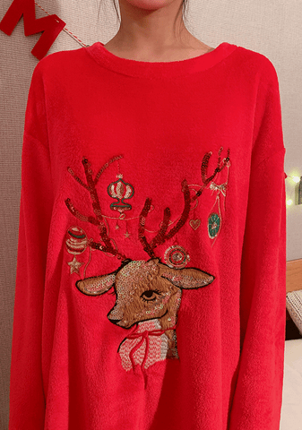 Lovely Rudolph Pajama Dress