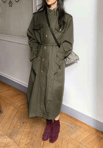 Mi Forte Long Trench Coat