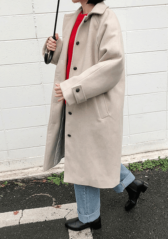 Single Collar Raglan Coat