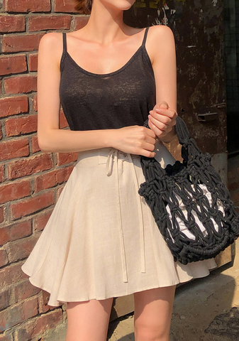 Lace-Up Summer Banding Skirt