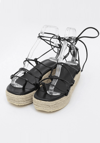 Lace-Up Spartan Sandals 4.5cm