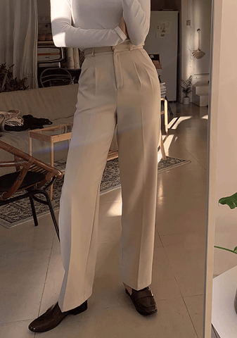 Perfect Buckle Pintuck Slacks