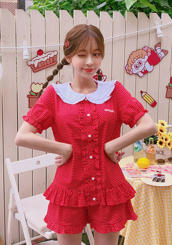 Cherry Pie. Leegong Cherry Jubilee Pajama Set