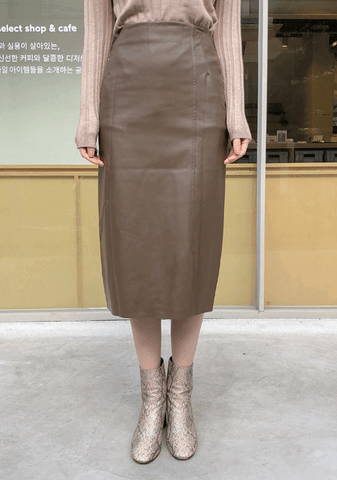 Done With Dreams Trim Leather Skirt
