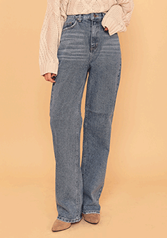 Long Wide Retro Denim Pants