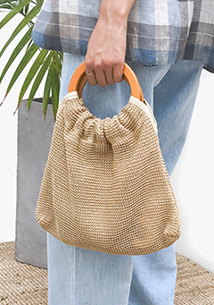 Straw Middle Bag