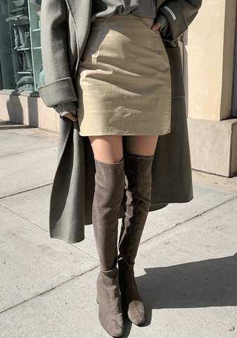 Forever Waiting Leather Mini Skirt