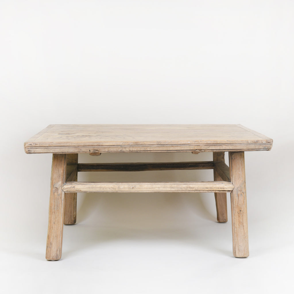 Coffee Table Antique Elm Wood