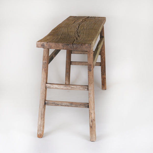 Side Table Antique Elm Wood, different sizes available