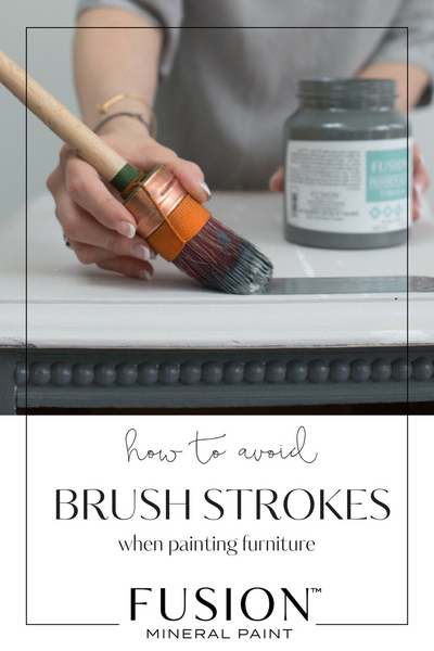 How to NOT get brushstrokes with Fusion Mineral Paint