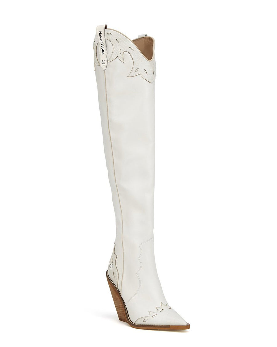 Stirrup White Leather (Regular Fit) - Naked Wolfe